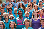 Choirs from across the UK came to The Scoop at More London to sing in a unique, massed choir concert co-directed by the fantastic Michael Harper and Roxane Smith, raising money for WaterAid. Sing for Water was initiated by composer Helen Chadwick and the Mayor's Thames Festival in 2002 to raise money for WaterAid.† Sing for Water events have since proliferated across the country and have raised more than £560,000 for WaterAid projects in India, Burkina Faso, Ghana and Malawi, bringing clean water, sanitation and hygiene education to thousands of people..The Thames Festival celebrates London and the iconic river at its heart - the Thames - by dancing in the streets, feasting on bridges, racing on the river and playing at the water's edge.