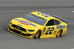 March 1, 2019 - Las Vegas, NV, U.S. - LAS VEGAS, NV - MARCH 01: Joey Logano (22) Team Penske Pennzoil Ford Mustang GT drives through turn four during practice for the Monster Energy NASCAR Cup Series 22nd Annual Pennzoil 400 on March 1, 2019, at the Las Vegas Motor Speedway in Las Vegas, Nevada. (Photo by Michael Allio/Icon Sportswire) (Credit Image: © Michael Allio/Icon SMI via ZUMA Press)
