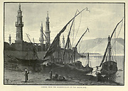 Girgeh [Girga], Egypt from the Mooring Palace on the South Side Wood engraving from 'Picturesque Palestine, Sinai and Egypt' by Wilson, Charles William, Sir, 1836-1905; Lane-Poole, Stanley, 1854-1931 Volume 4. Published in 1884 by J. S. Virtue and Co, London