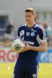 24.04.2014, Veltins Arena, Gelsenkirchen, GER, 1. FBL, Training Schalke 04, im Bild Julian Draxler ( Schalke 04 ) mit Trainingsball. // during a Trainingsession of German Bundesliga Club Schalke 04 at the Veltins Arena in Gelsenkirchen, Germany on 2014/04/24. EXPA Pictures © 2014, PhotoCredit: EXPA/ Eibner-Pressefoto/ Thienel<br /> <br /> *****ATTENTION - OUT of GER*****