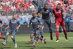 August 12, 2018 - Toronto, Ontario, Canada - MLS Game at BMO Field 2-3 New York City. IN PICTURE: NICK HAGGLUND, ALEXANDER CALLENS (Credit Image: © Angel Marchini via ZUMA Wire)