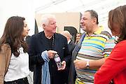 DR FRIEDRICH-CHRISTIAN FLICK; JOHNNY PIGOZZI, OPENING OF FRIEZE ART FAIR. Regent's Park. London.  12 October 2011. <br /> <br />  , -DO NOT ARCHIVE-© Copyright Photograph by Dafydd Jones. 248 Clapham Rd. London SW9 0PZ. Tel 0207 820 0771. www.dafjones.com.