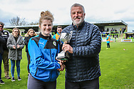 FGR Ladies trophy presentation during the Vanarama National League match between Forest Green Rovers and Chester FC at the New Lawn, Forest Green, United Kingdom on 14 April 2017. Photo by Shane Healey.