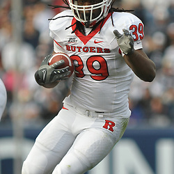 Oct 31, 2009; East Hartford, CT, USA; Rutgers running back Jourdan Brooks (39) rushes the ball during first half Big East NCAA football action between Rutgers and Connecticut at Rentschler Field.