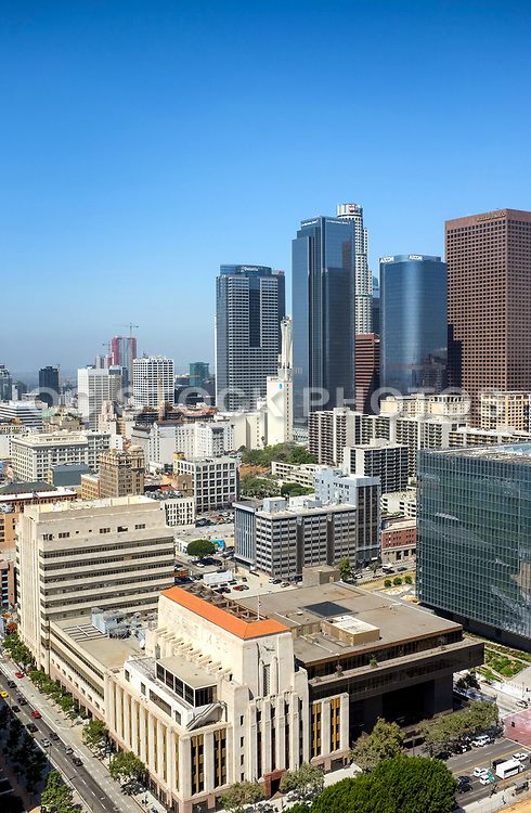 Los Angeles City Skyline From City Hall