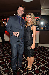 NICK KNOWLES and his wife JESSICA at the Pig Pledge Evening at Club no41, 41 Conduit Street, London on 10th March 2014.
