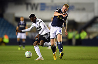 Football - 2018 / 2019 EFL Carabao Cup (League Cup) - Third Round: Millwall vs. Fulham<br /> <br /> Fulham's Andre-Frank Zambo Anguissa holds off the challenge from Millwall's Aiden O'Brien, at The Den.<br /> <br /> COLORSPORT/ASHLEY WESTERN