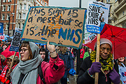 NHS In Crisis - Fix It Now March and Demonstration - organised by the Peoples Assembly started in Gower Street and finished outside Downing street.