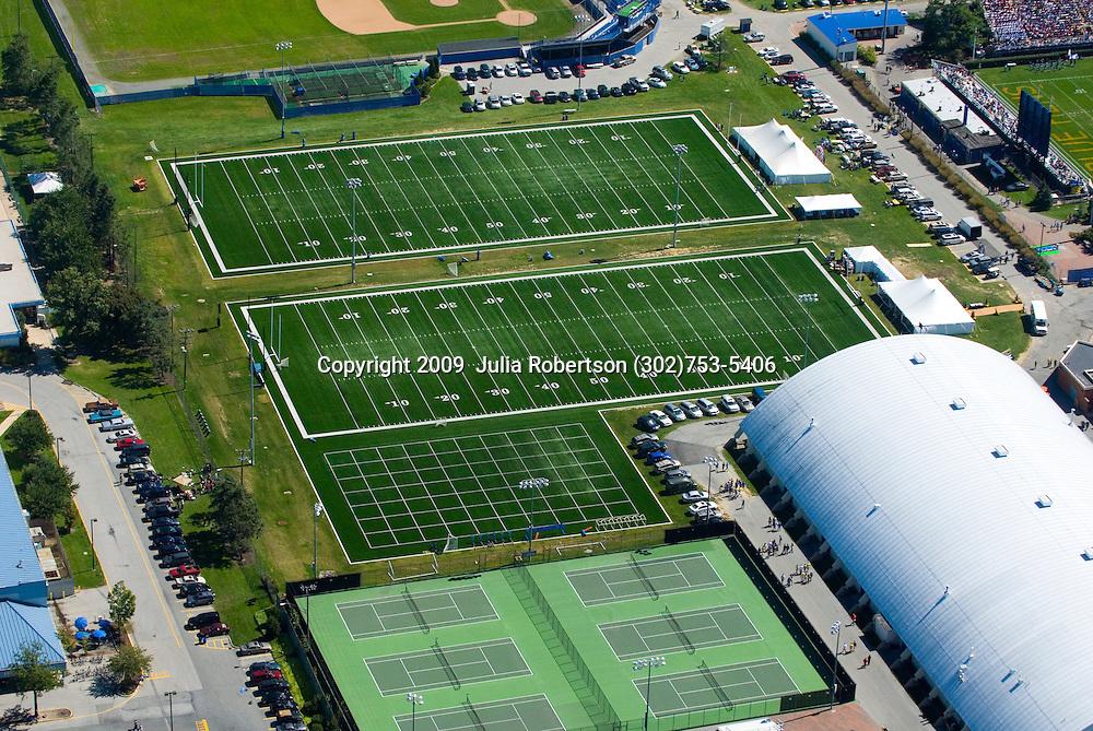 Aerial view of Athletic Field sat  University of Delaware Campus, Newark