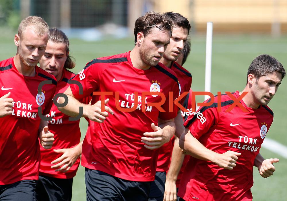 Galatasaray's Johan ELMANDER (C) during their training at the Jupp Derwall training center, Saturday, July 16 2011. Photo by TURKPIX