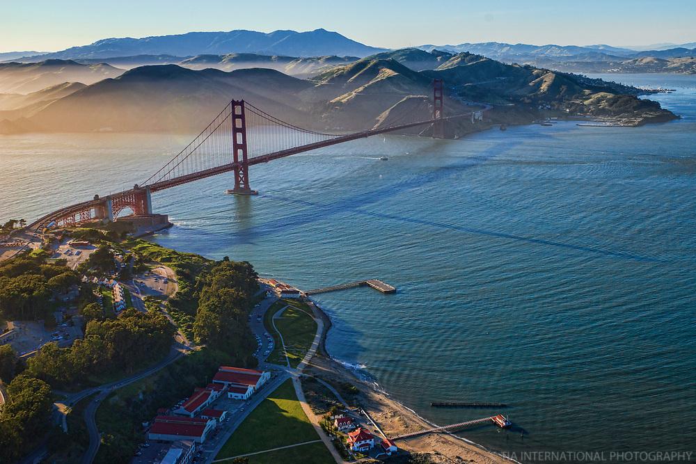 Golden Gate Bridge, Torpedo Wharf & Marin Headlands