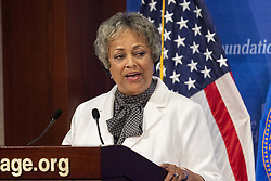 July 26, 2018 - Washington, DC, U.S - KAY COLES JAMES, President of The Heritage Foundation, speaking at the Heritage Foundation in Washington, DC on July 26, 2018 (Credit Image: © Michael Brochstein via ZUMA Wire)