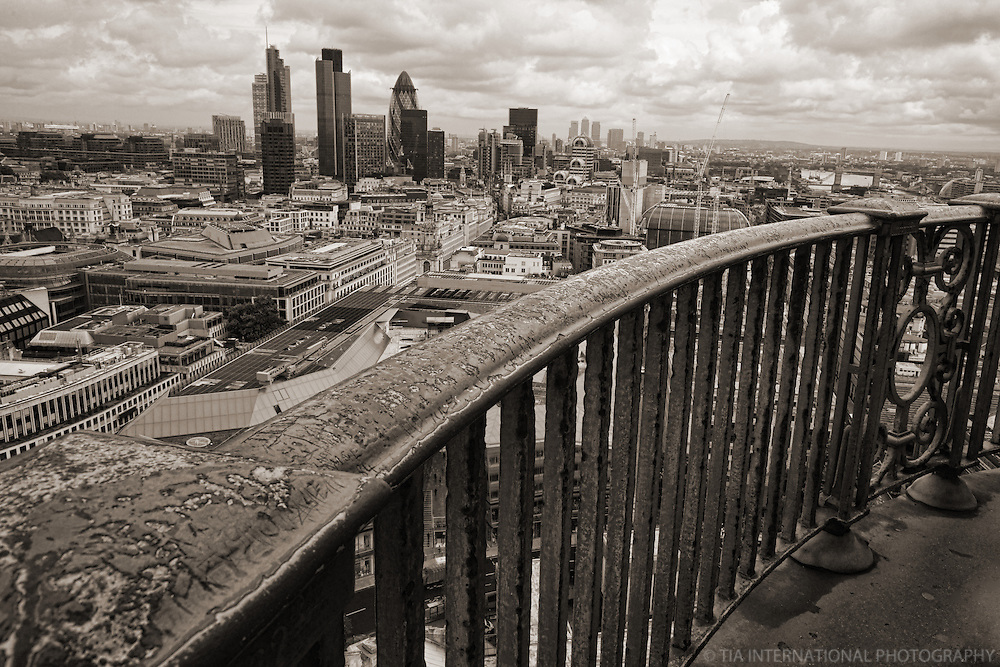 City of London from St. Paul's Cathedral (B&W)