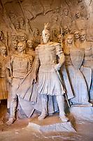Albanie, province de Durres, ville historique de Kruja, musée national, statue de Skanderbeg // Albania, Durres province, old town of Kruja, National museum, Skanderbeg statue
