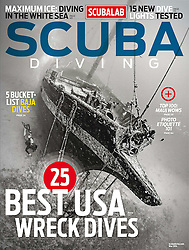 Scuba Diving Magazine, May 2014, magazine cover use, editorial, USA