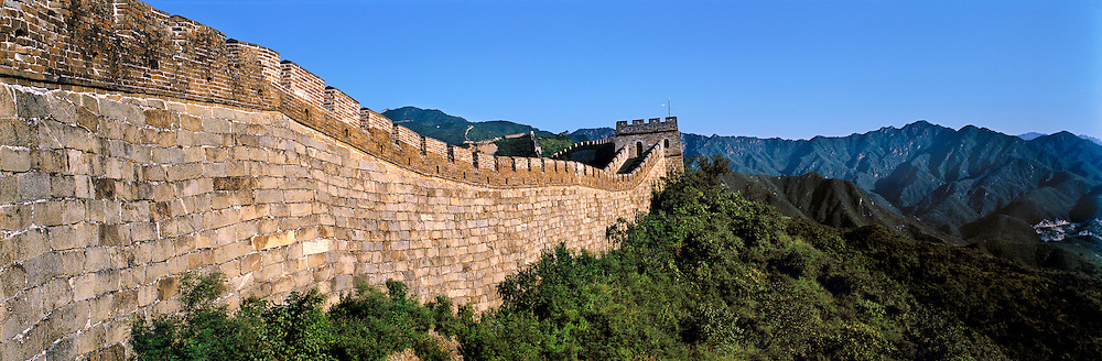 The Great Wall of China, built in the 3rd century B.C. by emperor Shih Huang Ti, extends for over 1500 miles from Kansu province to the Gulf of Chihli.