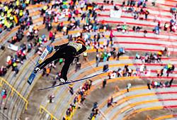 24.02.2019, Bergiselschanze, Innsbruck, AUT, FIS Weltmeisterschaften Ski Nordisch, Seefeld 2019, Nordischen Kombination, Teambewerb, Skisprung, Wertungssprung, im Bild Fabian Riessle (GER) // Fabian Riessle of Germany during the skijump for the team competition Nordic Combined of FIS Nordic Ski World Championships 2019. Bergiselschanze in Innsbruck, Austria on 2019/02/24. EXPA Pictures © 2019, PhotoCredit: EXPA/ JFK