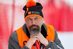 Worker during the 2nd Run of 7th Men's Giant Slalom - Pokal Vitranc 2013 of FIS Alpine Ski World Cup 2012/2013, on March 9, 2013 in Vitranc, Kranjska Gora, Slovenia. (Photo By Vid Ponikvar / Sportida.com)