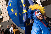 Hundreds of thousands of people protest in the Unite for Europe March on Parliament against Brexit demonstration on 25th March 2017 in London, United Kingdom. The march in the capital brings together protesters from all over the country, angry at the fact that Article 50 will be invoked and to listen to the 48 percent of British voters who voiced against Brexit. Since the vote was announced, there have been demonstrations, protests and endless political comment in all forms of media. Half of the country very displeased with the result and the prospect of being taken out of the European Union against their will, and with uncertainty as to what will happen next in the politics surrounding the exit from Europe.