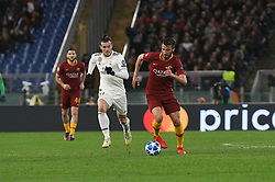 November 27, 2018 - Rome, Italy - Bryan Cristante of AS Roma control the ball during the Champions league football match between AS Roma  and Real Madrid at Olimpico stadium in Rome, Italy, on November 27, 2018. (Credit Image: © Federica Roselli/NurPhoto via ZUMA Press)