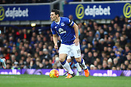Gareth Barry of Everton in action. Barclays Premier League match, Everton v Aston Villa at Goodison Park in Liverpool on Saturday 21st November 2015.<br /> pic by Chris Stading, Andrew Orchard sports photography.