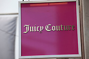 Sign for clothes shop Juicy Couture.