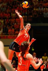 20180531 NED: Volleyball Nations League Netherlands - Brazil, Apeldoorn<br />Anne Buijs (11) of The Netherlands <br />©2018-FotoHoogendoorn.nl