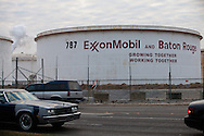 """Exxon Mobile refinery in Baton Rouge, Louisiana on Scenic Highway located in the stretch between Baton Rouge and New Orleans along the river, is part of a large concentration of chemical and oil companies that was formerly referred to as the """"Petrochemical Corridor,"""" but now is know as """"Cancer Alley.""""  Many cases of cancer have occurred  in communities on both sides of the river though the Louisiana Tumor Registry claims the numbers are not higher then the national average. The record high levels of the Mississippi River in the spring of 2011 brought on by what some scientists classify as climate change,  threaten the environment with the potential flooding of industrial complexes and nuclear facilities along the river."""