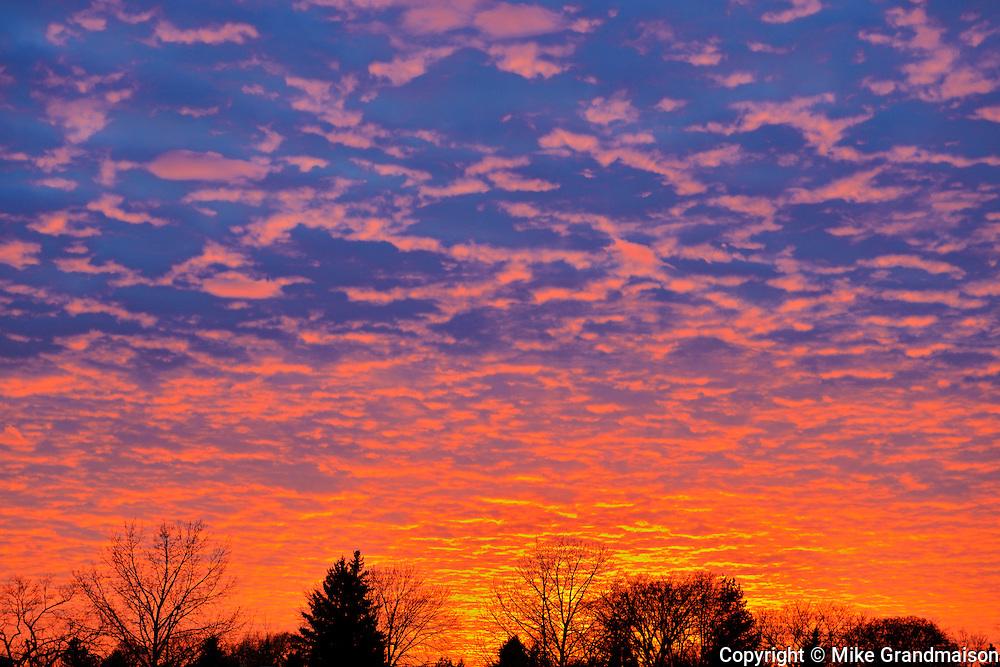 Clouds at sunset<br /> Winnipeg<br /> Manitoba<br /> Canada