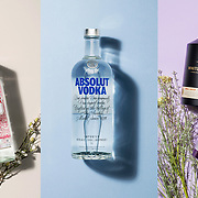 A range of alcohol products photographed for an advert in a magazine by product photographer Stuart Freeman.