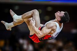 November 2, 2018 - Doha, Qatar - Ahmet Onder of Turkey   during  Floor for Men at the Aspire Dome in Doha, Qatar, Artistic FIG Gymnastics World Championships on 2 of November 2018. (Credit Image: © Ulrik Pedersen/NurPhoto via ZUMA Press)