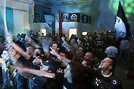 Campo d'Azione 2006 di Forza Nuova a Marta ( VT).saluto fascista dei militanti di forza nuova al concerto serale. meeting of forza nuova, raduno forza nuova