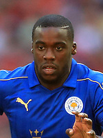 "Leicester City's Jeffrey Schlupp during the Community Shield match at Wembley Stadium, London. PRESS ASSOCIATION Photo. Picture date: Sunday August 7, 2016. See PA story SOCCER Shield. Photo credit should read: Adam Davy/PA Wire. RESTRICTIONS: EDITORIAL USE ONLY No use with unauthorised audio, video, data, fixture lists, club/league logos or ""live"" services. Online in-match use limited to 75 images, no video emulation. No use in betting, games or single club/league/player publications."