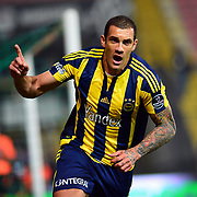 Fenerbahce's Fernandao during their Turkish Super League soccer match Akhisar Belediye Genclik Spor between Fenerbahce at the 19 Mayis Stadium in Manisa Turkey on Sunday, 06 March 2016. Photo by TURKPIX