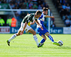 Bristol Rovers' Michael Smith turns on the spot  - Photo mandatory by-line: Dougie Allward/JMP - Tel: Mobile: 07966 386802 07/09/2013 - SPORT - FOOTBALL -  Home Park - Plymouth - Plymouth Argyle V Bristol Rovers - Sky Bet League Two