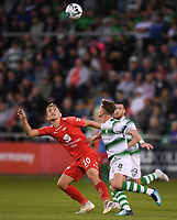 18 July 2019; Amer Ordagić of SK Brann in action against Ronan Finn of Shamrock Rovers during the UEFA Europa League First Qualifying Round 2nd Leg match between Shamrock Rovers and SK Brann at Tallaght Stadium in Dublin. Photo by Eóin Noonan/Sportsfile