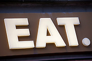 Sign for food chain EAT.