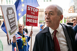 © Licensed to London News Pictures. 30/04/2019. London, UK. Richard Corbett MEP arrives at Labour Party headquarters for National Executive Meeting at which Labour's position on a second EU vote will be decided. Photo credit : Tom Nicholson/LNP