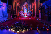 An altar decorated with Christian religious themes for El Viernes de Dolores during Holy Week March 23, 2018 in San Miguel de Allende, Mexico. The event honors the sorrow of the Virgin Mary for the death of her son and is an annual tradition in central Mexico.