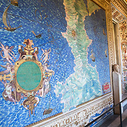 Forty 16th-century topographical maps of Italy line this long corrider inside the Vatican Museums.