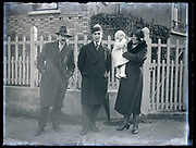 family with toddler and parent France circa 1930s