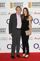LONDON - JUNE 29: Andrew Lloyd Webber; Mel C; Melanie Chisholm attended the Nordoff Robbins O2 Silver Clef Awards, London Hilton, Park Lane, London, UK. June 29, 2012. (Photo by Richard Goldschmidt)