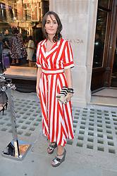 TANIA FARES at the opening of Roksanda - the new Mayfair Store for designer Roksanda Ilincic at 9 Mount Street, London on 10th June 2014.