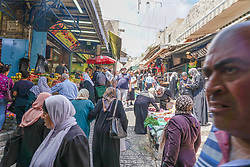 A crowd scene in the Old City of Jerusalem. From a series of travel photos taken in Jerusalem and nearby areas. Photo date: Thursday, August 2, 2018. Photo credit should read: Richard Gray/EMPICS