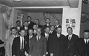 Picture shows members of the Cork  County Board of the GAA at the Congress. Included are Messers A M Murphy, Chairman; E Colter, Vice-Chairman; Jim  Barry, Registrar; Con Murphy, Secretary; D Gowan, Treasurer; Sean McCarthy, Former  President of the GAA; P O'Driscoll; D Maher; Sean Barrett; P Flynn; O Barry; T Lynch, Chairman Mid-Cork Board, etc...Annual Congress, GAA, Gresham Hotel, Easter Sunday. 14.4.1963.  14th April 1963