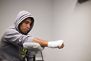 Alejandro Perez has his hands wrapped before his fight against Patrick Williams during UFC 188 at the Mexico City Arena in Mexico City, Mexico on June 13, 2015. (Cooper Neill)