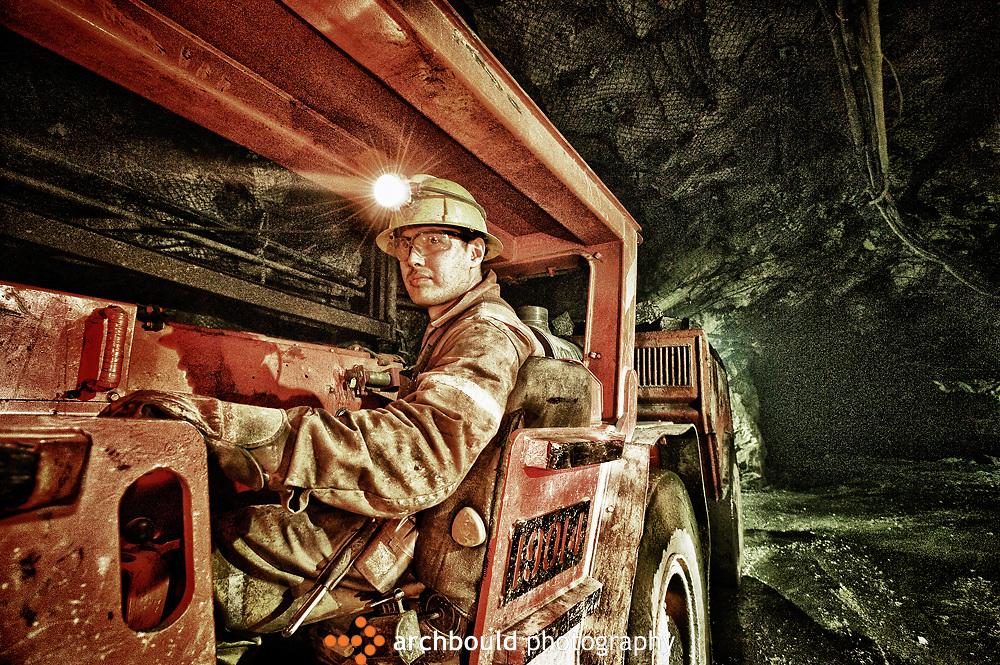 Mining in the Yukon Territory, Canada.
