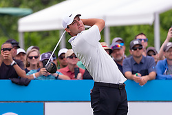 May 9, 2019 - Dallas, TX, U.S. - DALLAS, TX - MAY 09: Scottie Scheffler hits his opening tee shot on #1 during the first round of the AT&T Byron Nelson on May 9, 2019 at Trinity Forest Golf Club in Dallas, TX. (Photo by Andrew Dieb/Icon Sportswire) (Credit Image: © Andrew Dieb/Icon SMI via ZUMA Press)