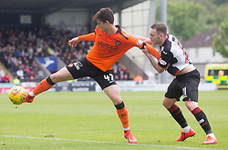 Dundee Utd's Ian Harkes is held back by St Mirren's Lee Hodson (right) during the Ladbrokes Premiership play-off final, second leg match at the Simple Digital Arena, St Mirren.