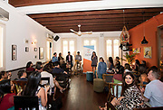 Welcome speech by Rose Huskey during the Women Leading Change Network in Lime House, Singapore, Singapore. Photo by Charlie Lee / Studio EAST